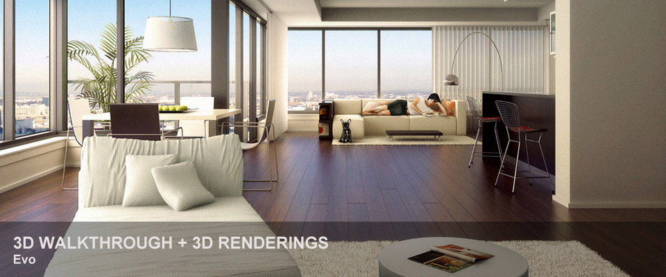Evo – 3D walkthrough + 3D renderings