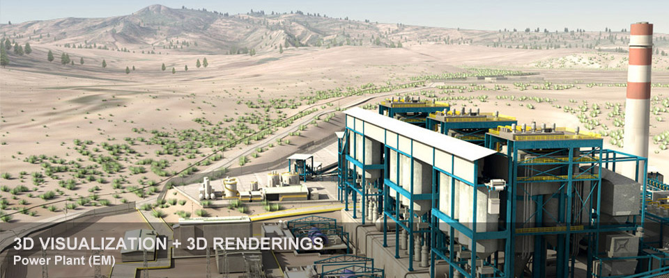 Power Plant (EM) – 3D visualization + 3D renderings