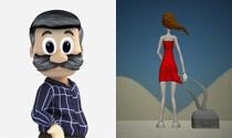 Personajes 3D + ilustraciones