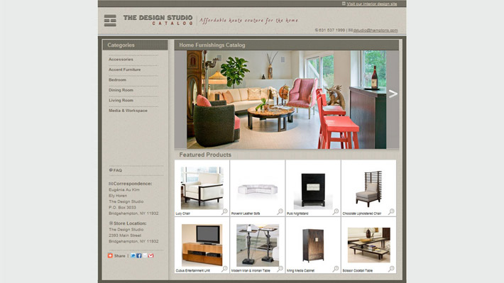 The Design Studio online catalog