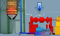 3D animations: Nuclear and fossil-fuel power plants